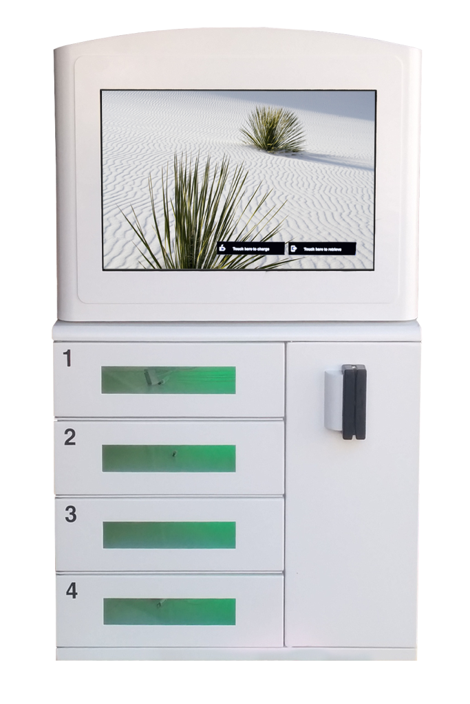 Wall Mounted Charging Kiosk with Lockers