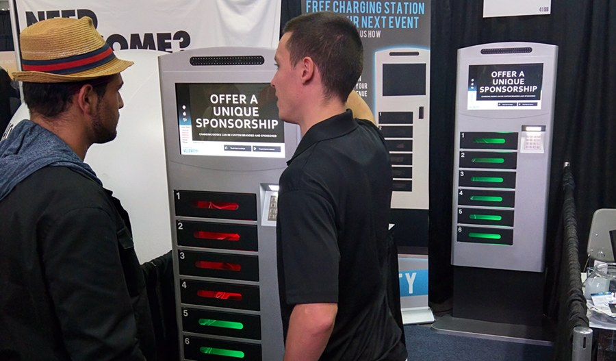 secure cell phone charging kiosks with lockers