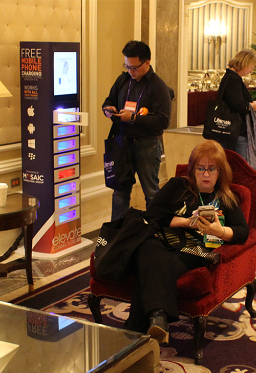 Cell phone charging stations las vegas events