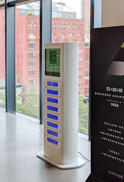 Phone Charging Lockers at Wired Magazine Conference