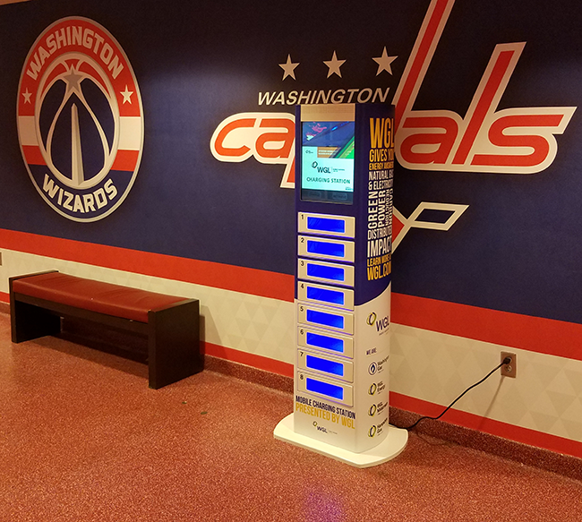 phone charging stations at verizon center