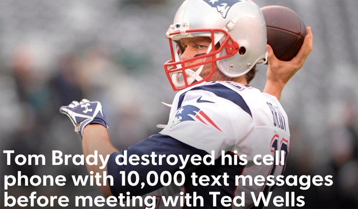 Tom Brady's Samsung Cell Phone Destruction Inflates Deflategate