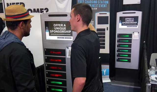 Veloxity Phone Charging Kiosks at BizBash Live
