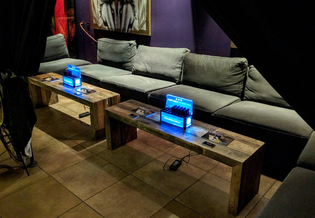 cell phone charging stations for bars