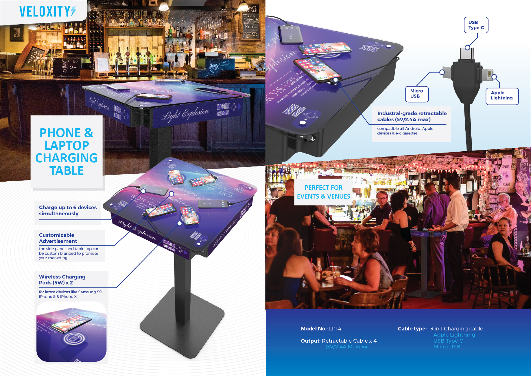 Cell Phone Charging Table For Events