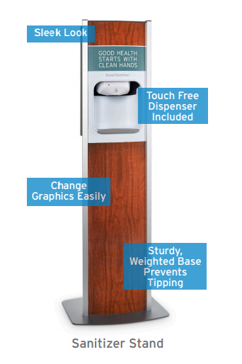 rent hand sanitizer stations for events